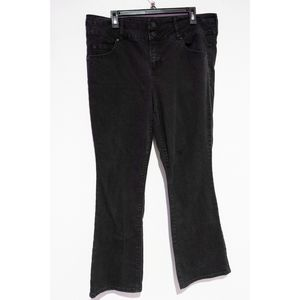 Torrid Denim Jeans Black Bootcut size 18 Regular